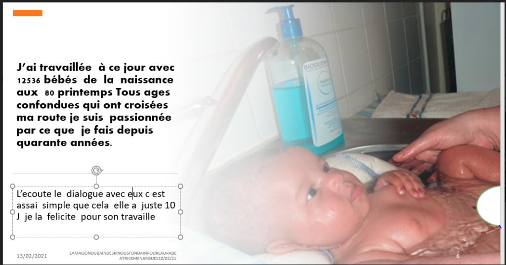 Le dialogue intra-foetale entre LAURA et les kinous ce poursuivent lors du bains des kinous en directe